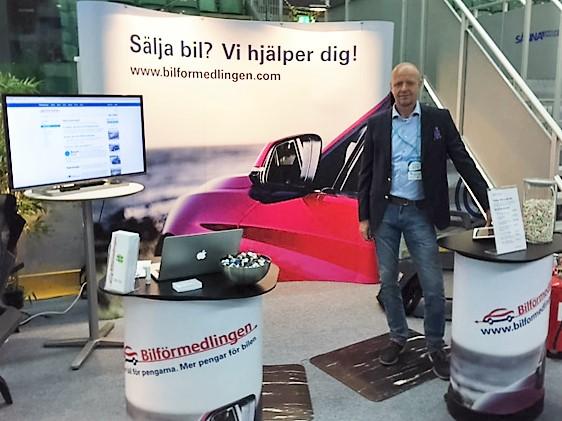 Lars Olsson på företagsmässan i Ängelholm 2016-05-14