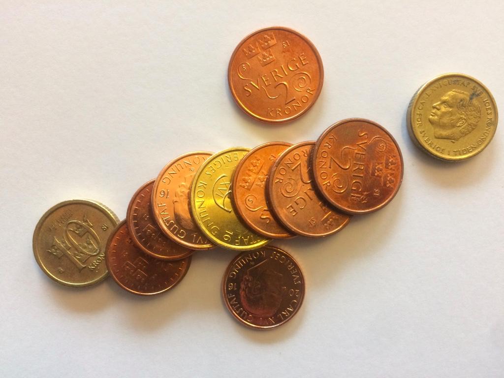 Bild på småpengar